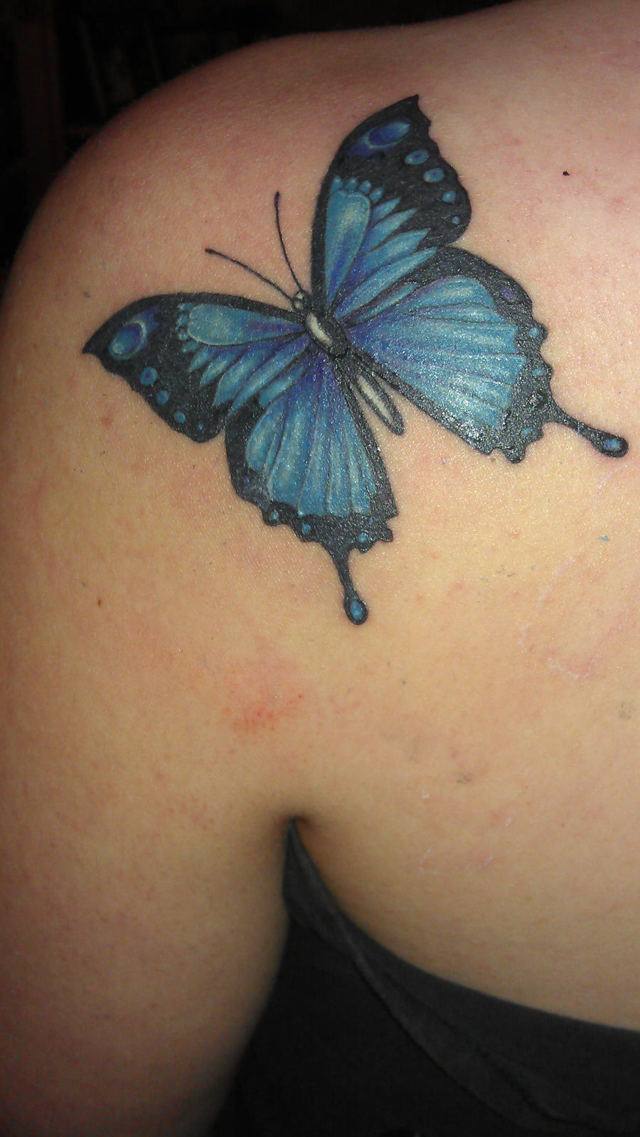 Butterfly flying away tattoos - photo#8