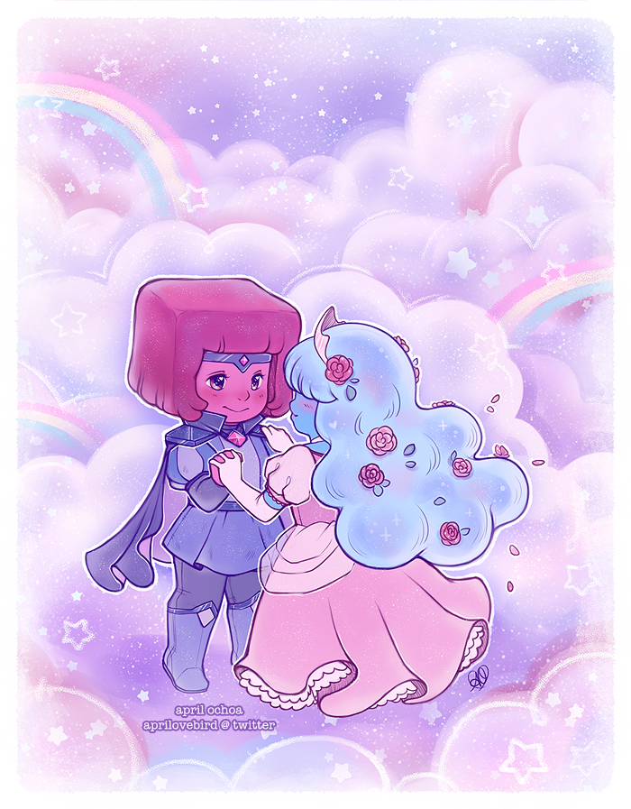 Had this sitting unfinished for some time, since the SU ep aired with these two cuties Finally finished it this year! I'll probably have a print of this sometime in the future as well <3