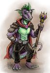 Spike, Kobold Summoner by Droakir