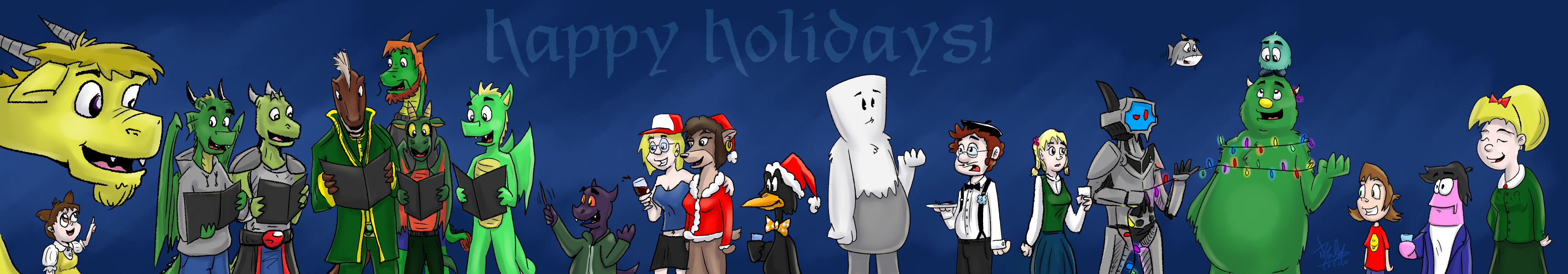 Happy Holidays 2015 by Droakir