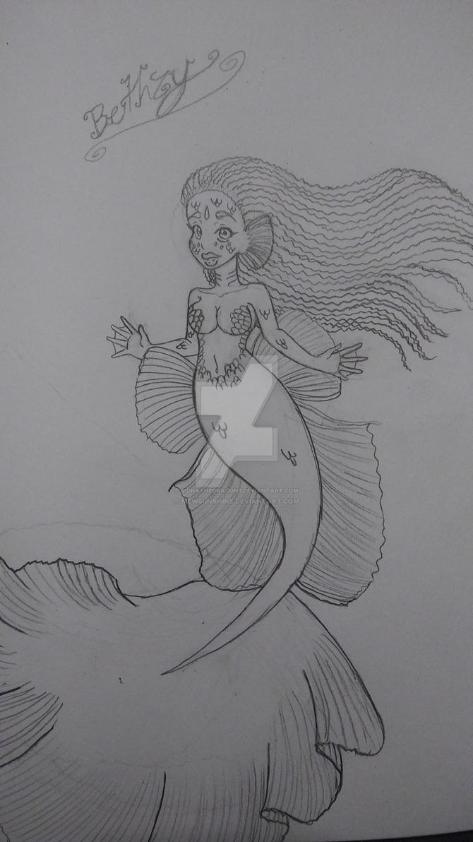 Bethzy as a mermaid  by SidnaTheDragon1