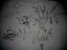 Zombie Cat On The Hunt