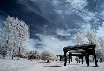 gates to heaven - infrared by Konczey-Zsolt