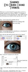 Changing Eye Colour Tutorial by PunkNarumi