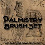 Vintage Palmistry Brush Set