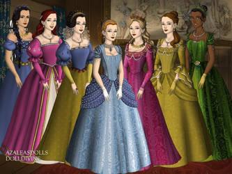 Disney Princesses 1 Tudor Style by TFfan234