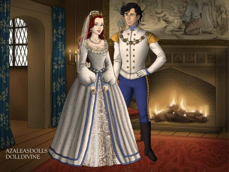 Ariel and Eric Wedding Tudor style by TFfan234 on DeviantArt