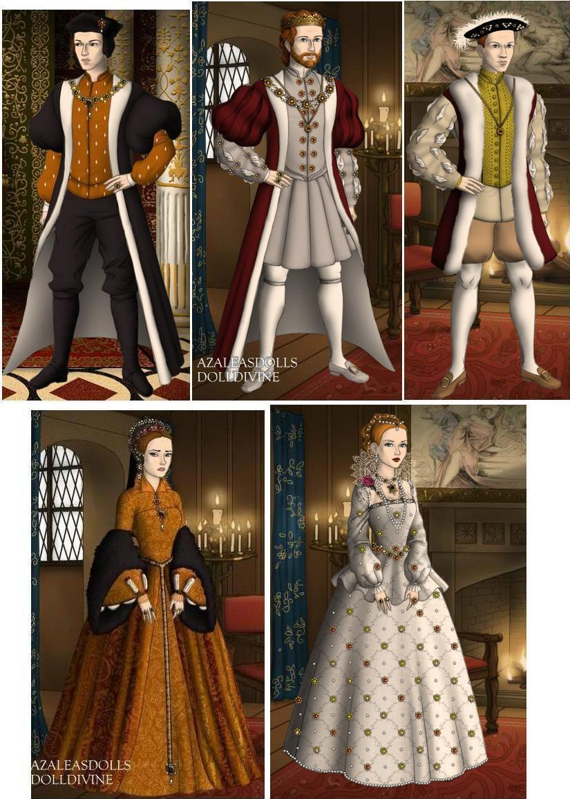 Tudor Rulers Of England In The 1500s By Tffan234 On Deviantart