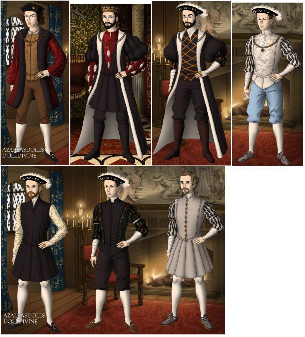Kings of France in 1500s by TFfan234