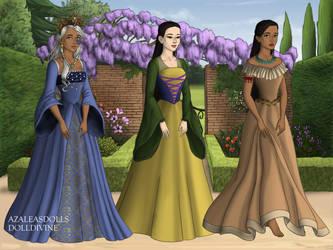 Disney Princesses 4, Tudor Style by TFfan234