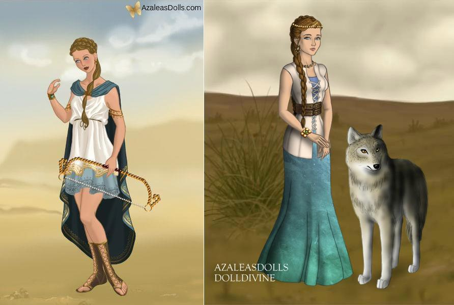 Artemis goddess of the hunt and children by tffan234 on deviantart