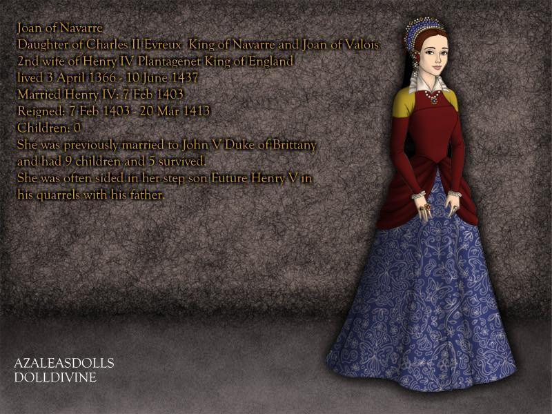 Joan of Navarre, Queen of England 1403-1413 by TFfan234 on DeviantArt