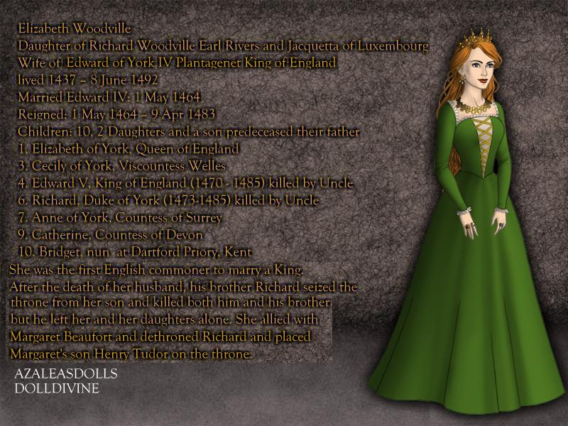 Elizabeth Woodville, Queen of England 1464-1483 by TFfan234