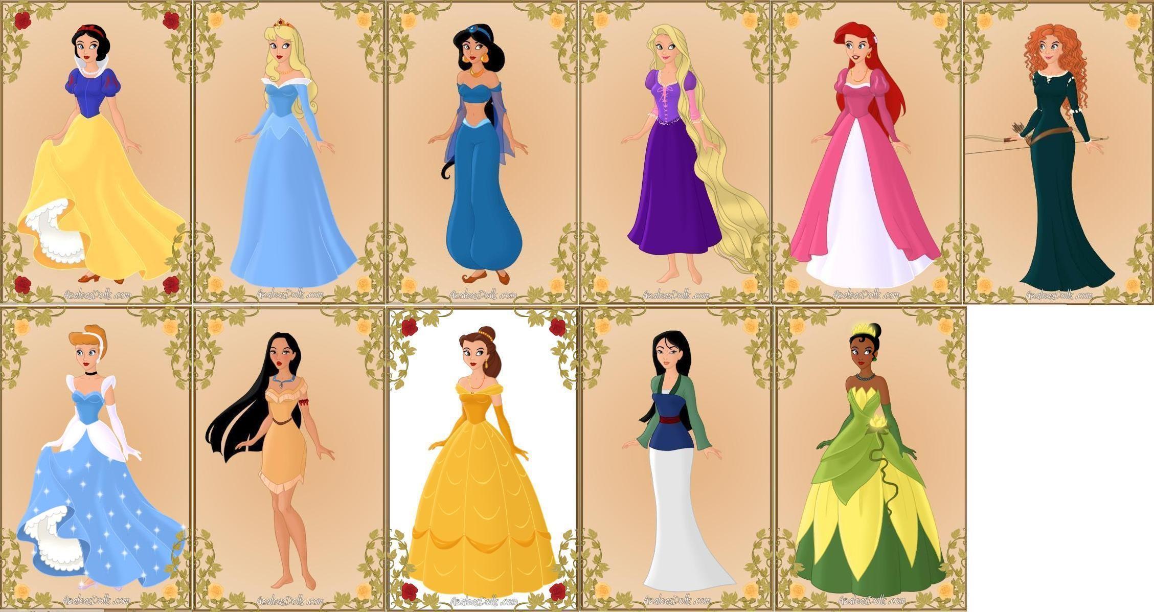 offical disney princesses by tffan234 on deviantart. Black Bedroom Furniture Sets. Home Design Ideas