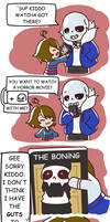 Sans and Frisk: Horror Movie (pt1?) by Meiasaurus-rex