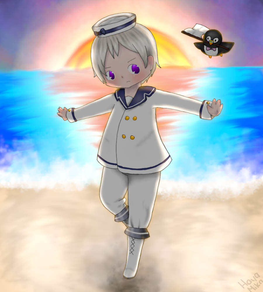 Hetalia - Iceland Sailor Suit by HayaMika