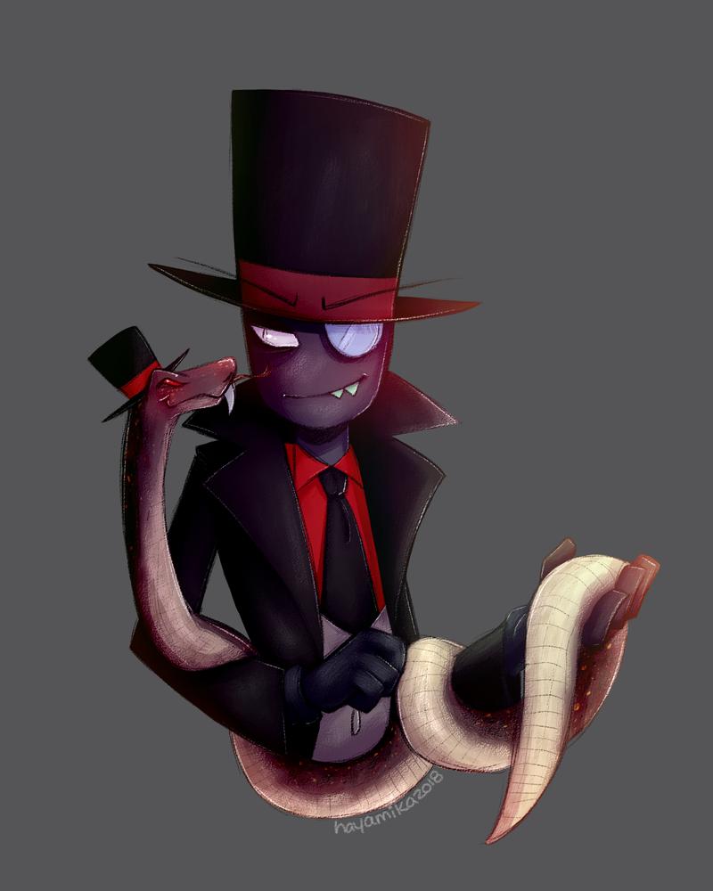 Hat Boi and his Snake by HayaMika