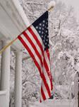 snowy flag by objekt-stock