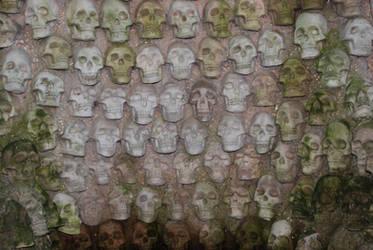 skull wall by objekt-stock