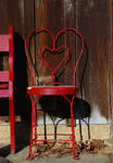 red heart chair by objekt-stock