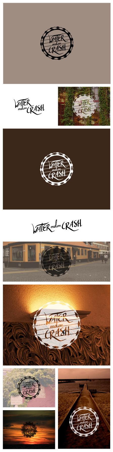 WATERmelon CRASH logo by Zalin