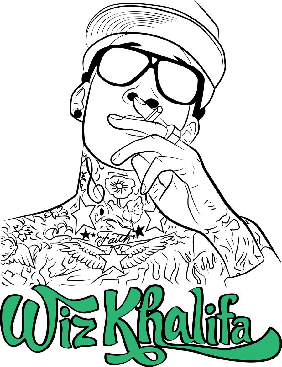 Cartoon wiz khalifa drawings