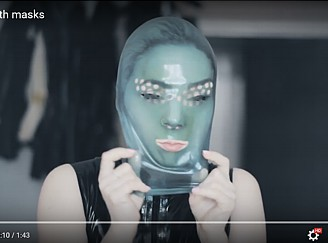 Masked Girl Video by latex-rat