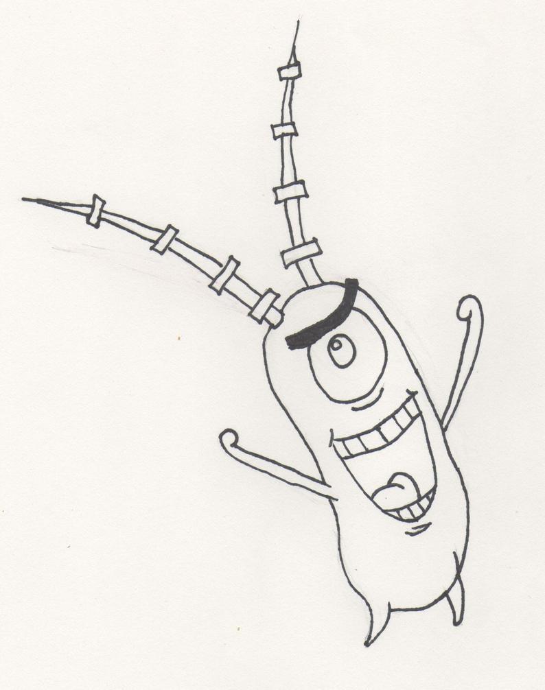 Plankton Line-Art by Lirshtah8