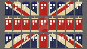 TARDIS Union Jack Wallpaper