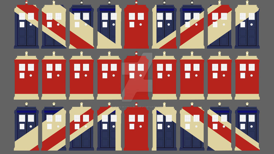 Tardis union jack wallpaper by paulskywalker on deviantart for Union jack wallpaper