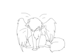 Winged Cat Lineart