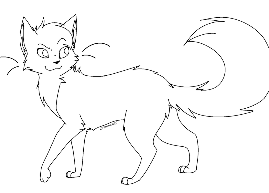 Line Art Of Cat : Cat lineart by evertenn on deviantart