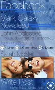 Facebook App Redesigned for Galactia U