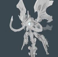 Warframe concept -- Sentient Stykalyst by DerTodesbote