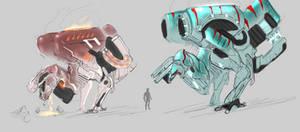 Warframe concept -- THERI/TYRAN by DerTodesbote
