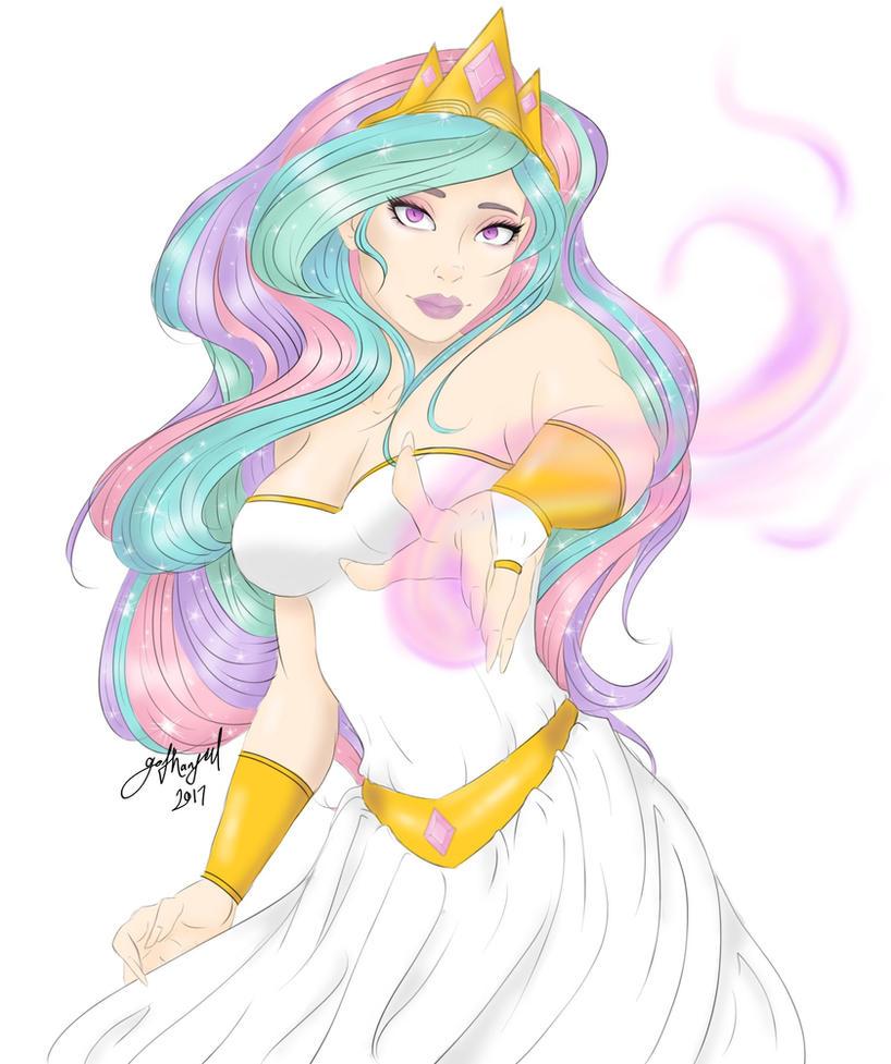 Human! Princess Celestia by gothangel0729 on DeviantArt Celestia Mlp Human