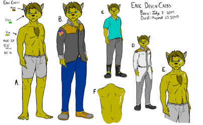 Eric Cross Character Sheet and Reference