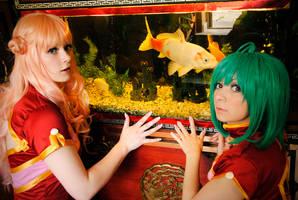 Ranka and Sheryl on fish tour by Firiless