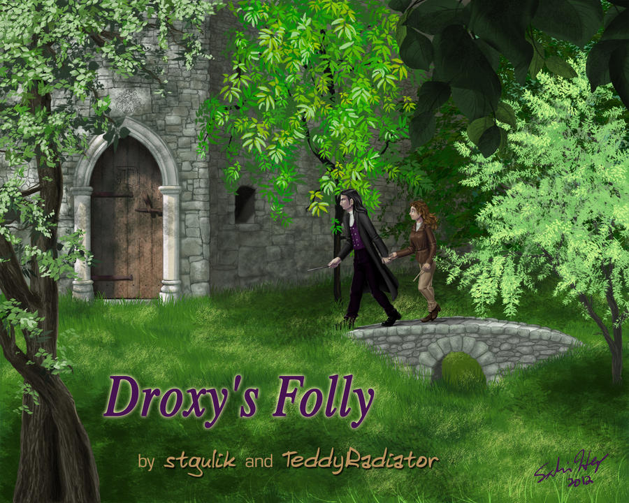 Droxy's Folly cover art (HP: Hermione/Severus) by slr2moons