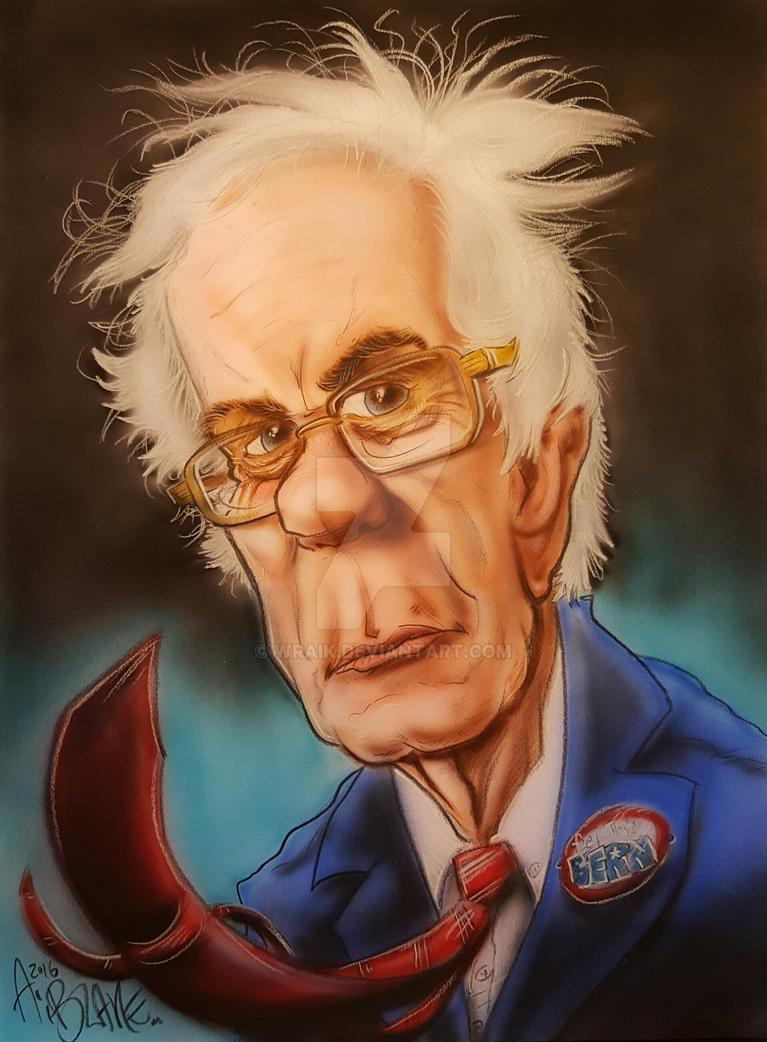 Bernie Sanders Caricature by Wraik