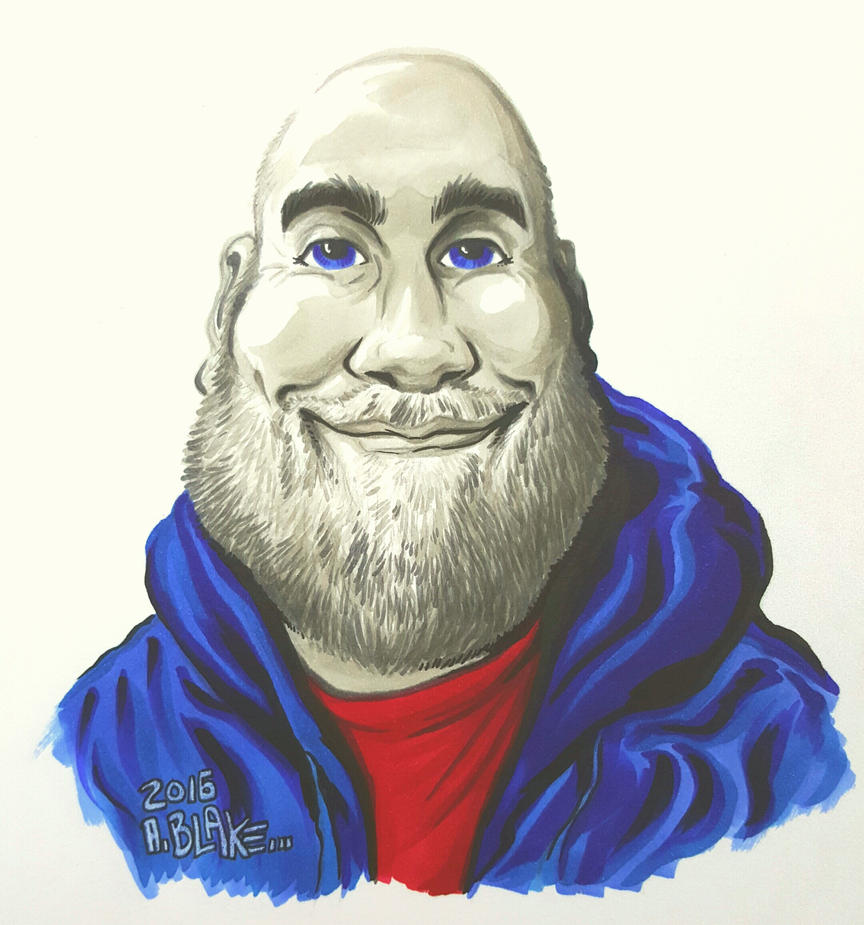 Self Caricature by Wraik