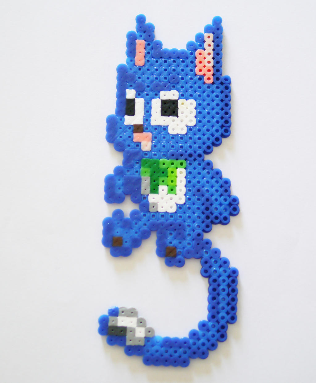 Happy (Fairy Tail) Made from Perler / Hama Beads by yolei-s