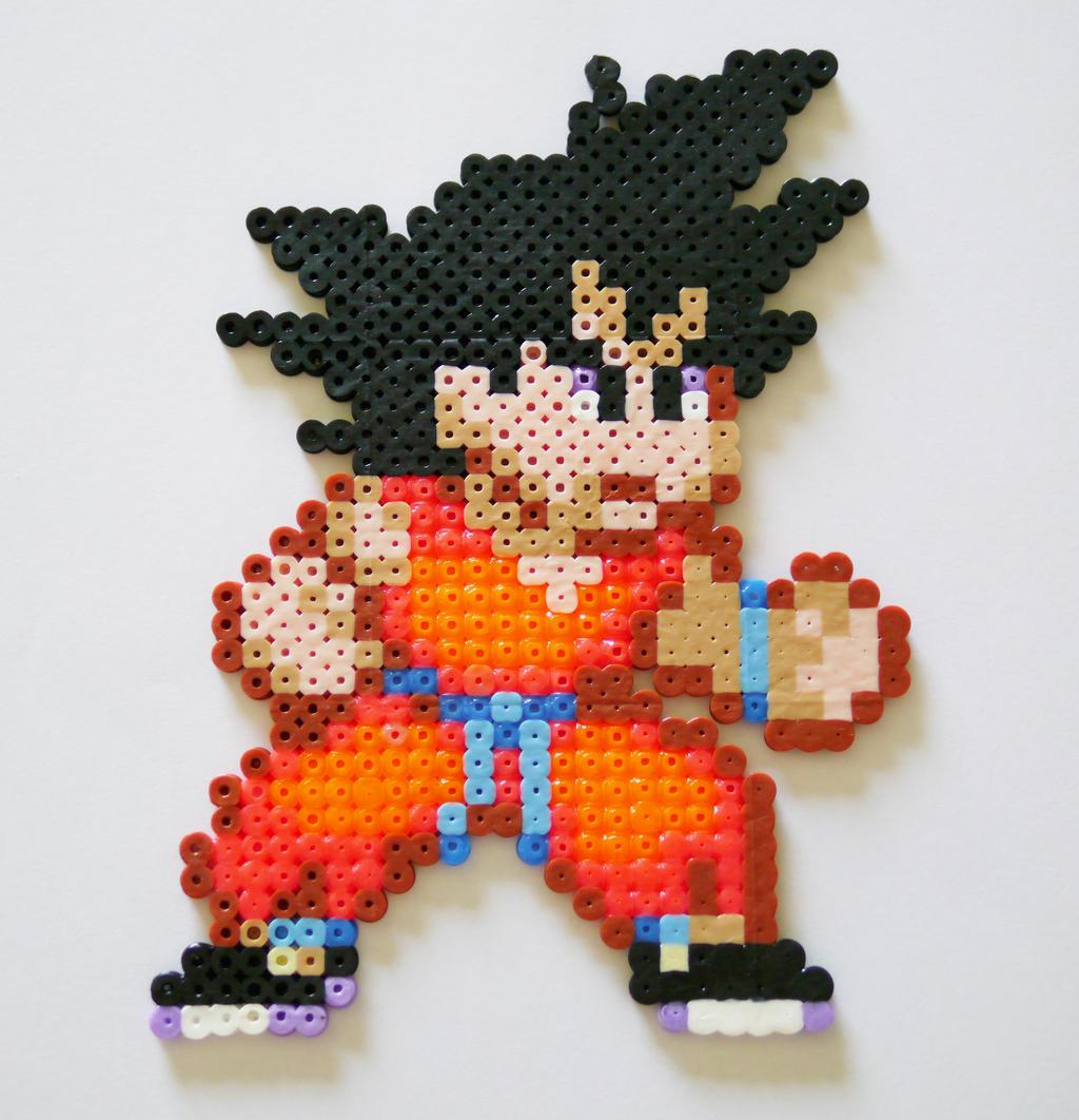 Goku (DBZ) - Perler+Hama Beads by yolei-s
