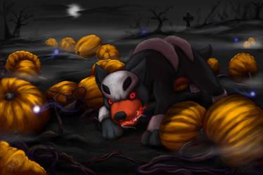Halloween Houndour by Neomae