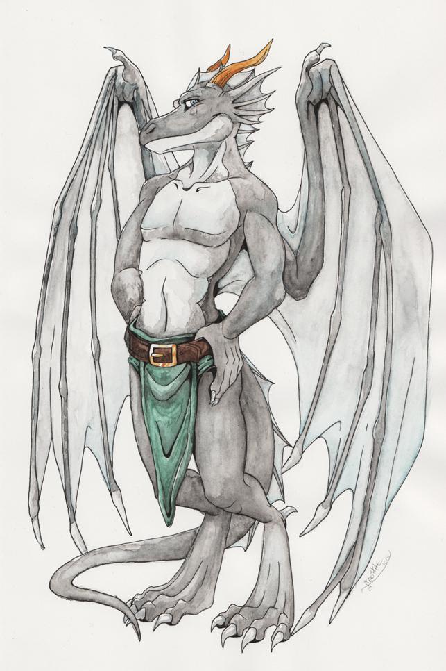Bengges as a gargoyle by Neomae