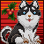 Free Alaskan Malamute Icon - Christmas Version by Neomae