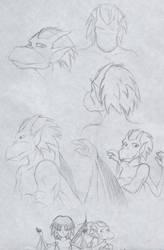 Brooklyn sketches 1 by Neomae