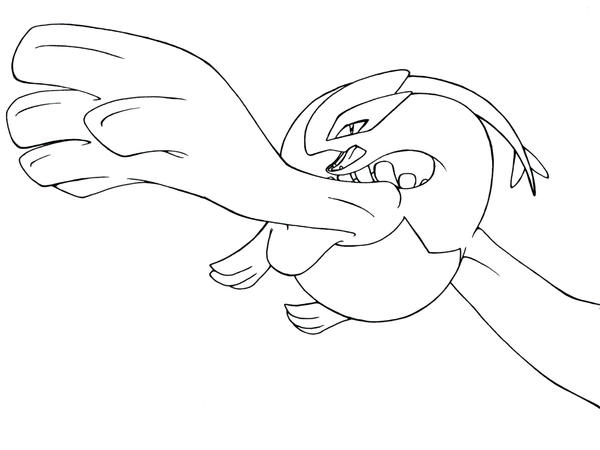 lugia coloring pages - lugia ink free to color by neomae on deviantart