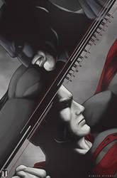 Batman V Superman : Dawn of justice poster art.