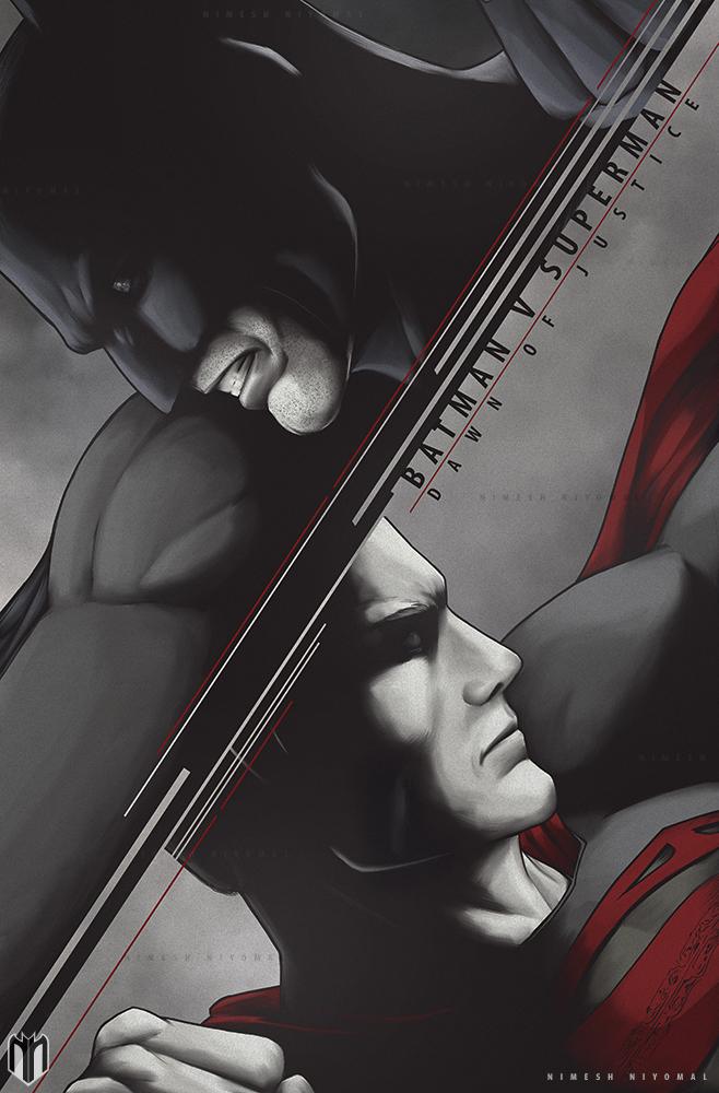 Batman V Superman : Dawn of justice poster art. by Niyoarts